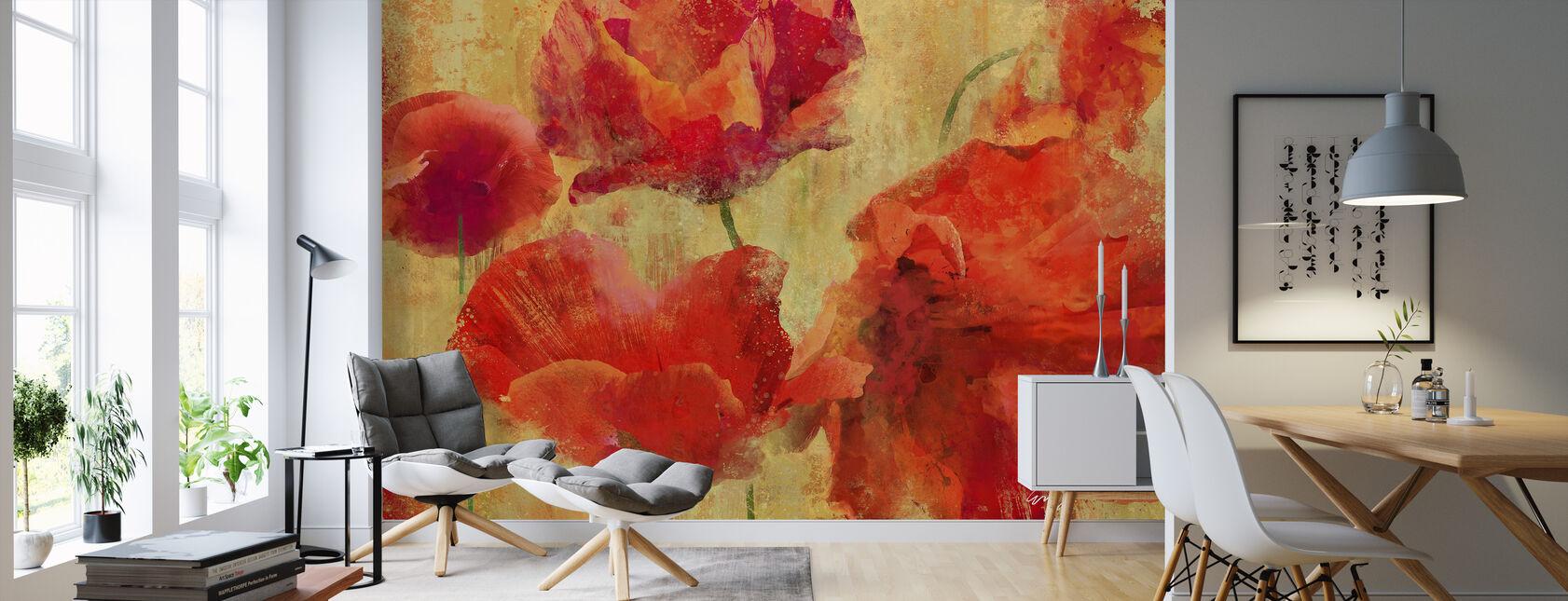 Expressive Flowers - Wallpaper - Living Room