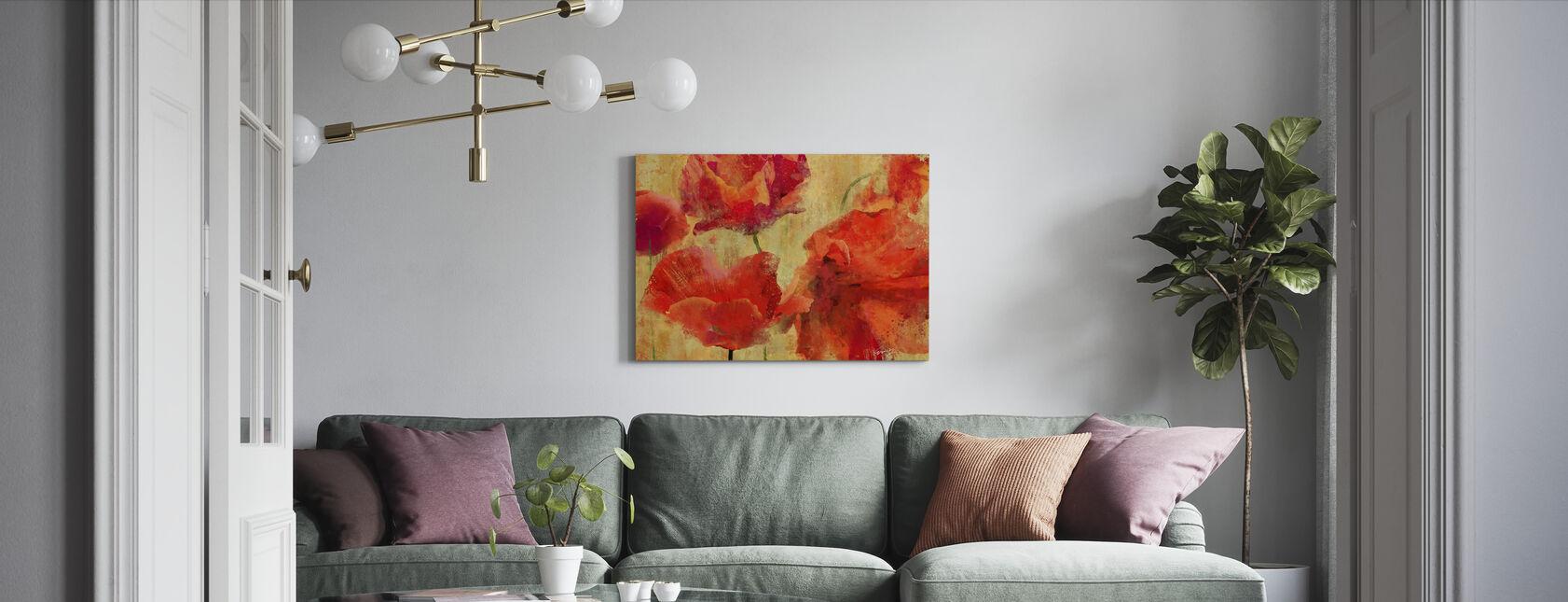 Uttrycksfulla blommor - Canvastavla - Vardagsrum