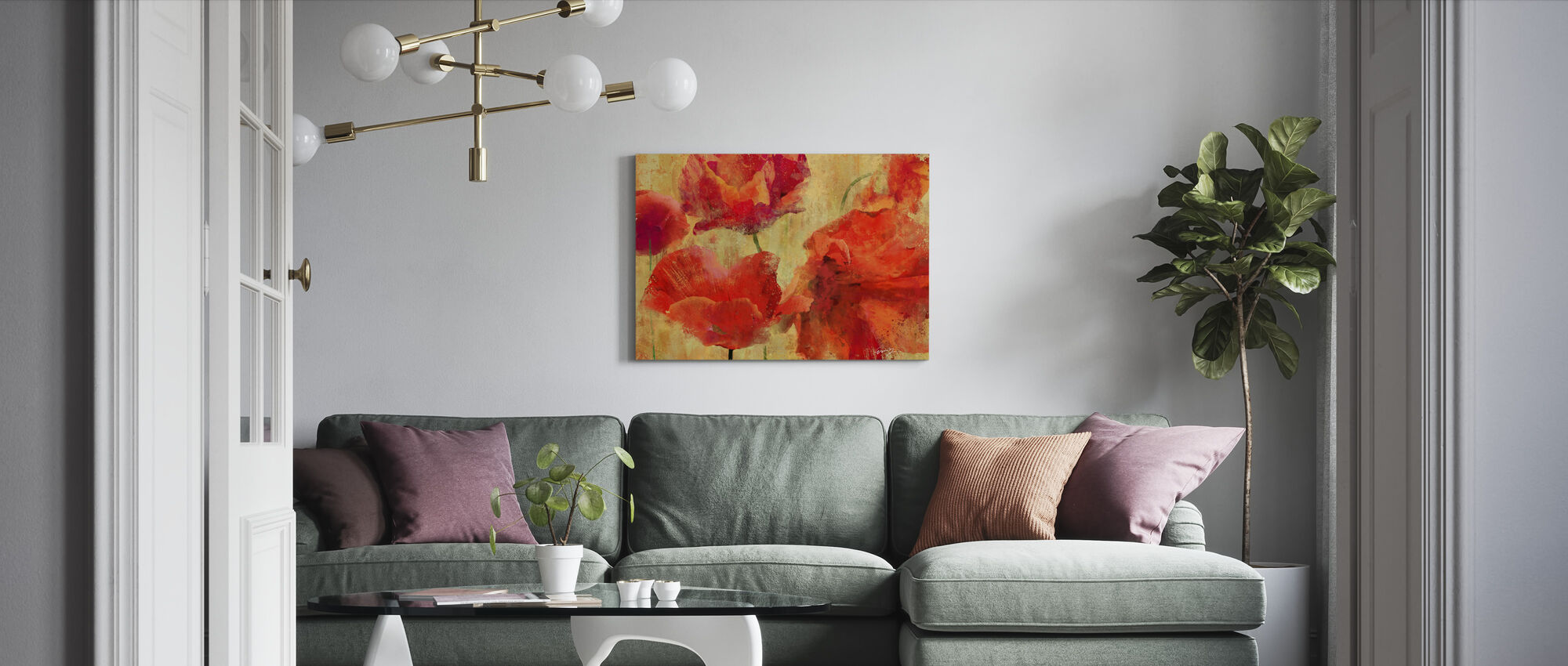 Expressive Flowers - Canvas print - Living Room