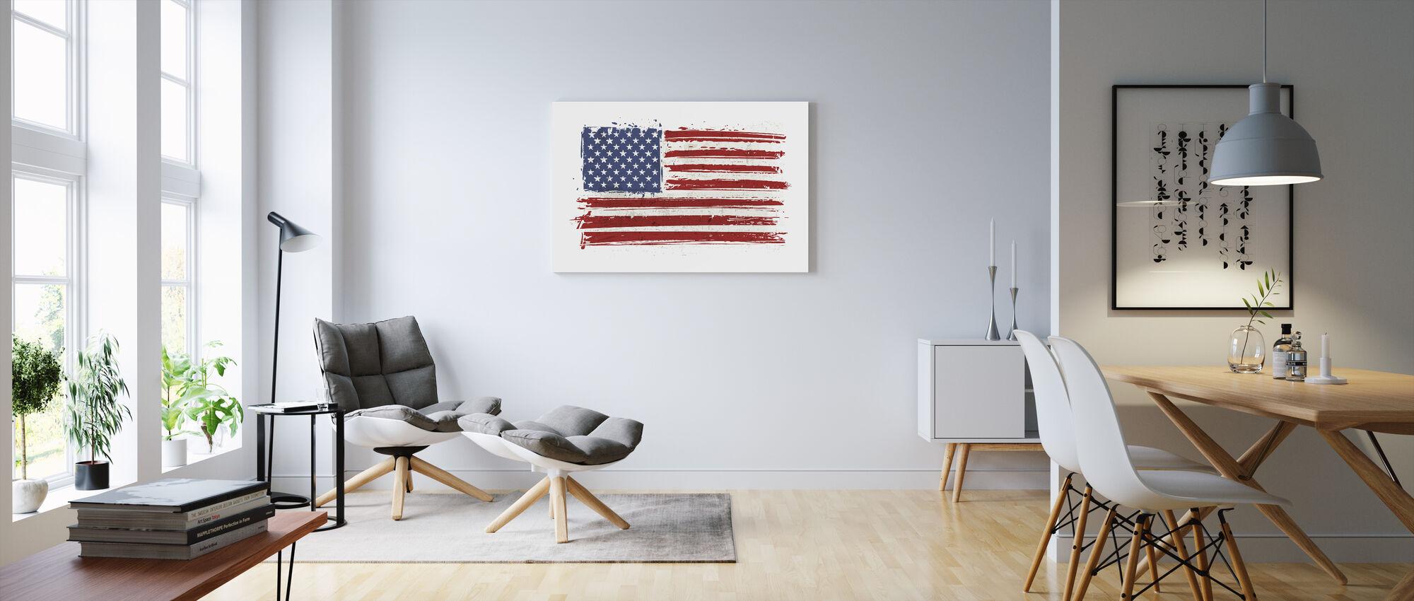 Flag USA - Canvas print - Living Room