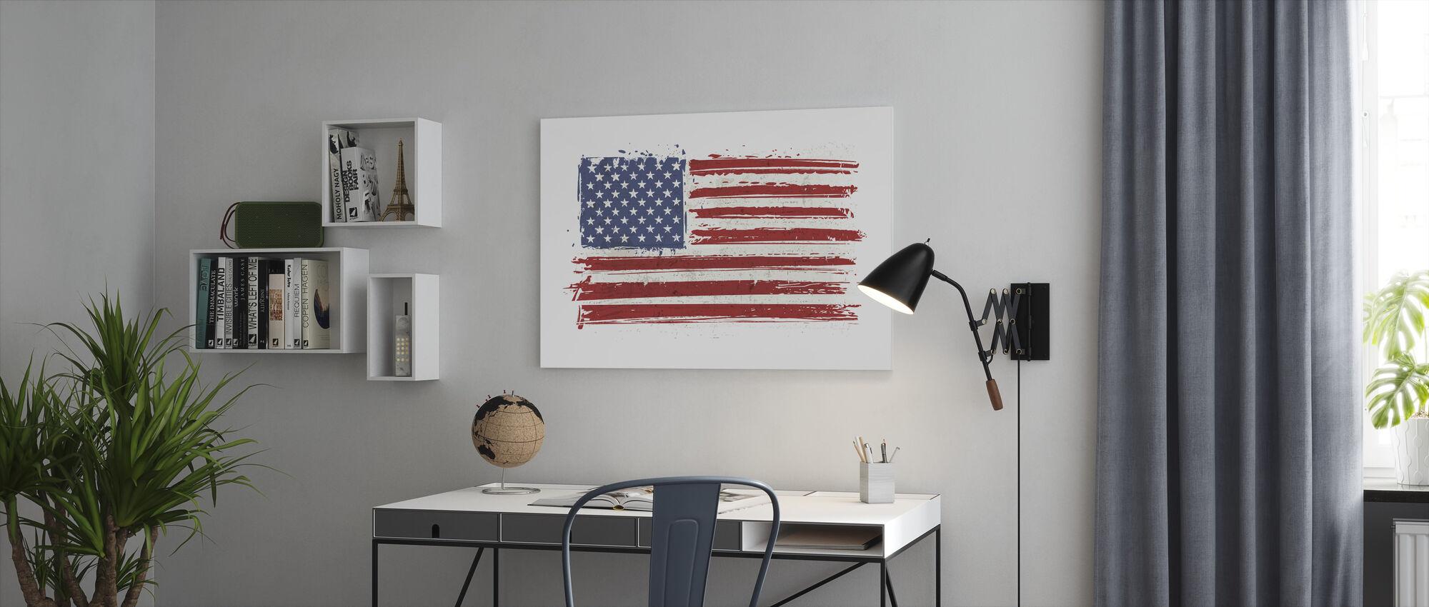 Flag USA - Canvas print - Office