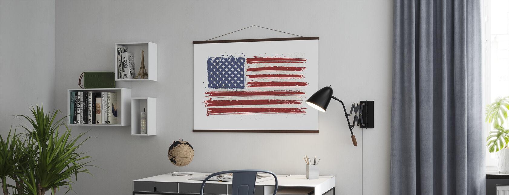 Flag USA - Poster - Kantoor