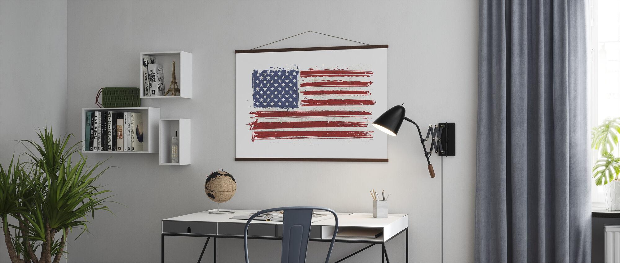 Flag USA - Poster - Office