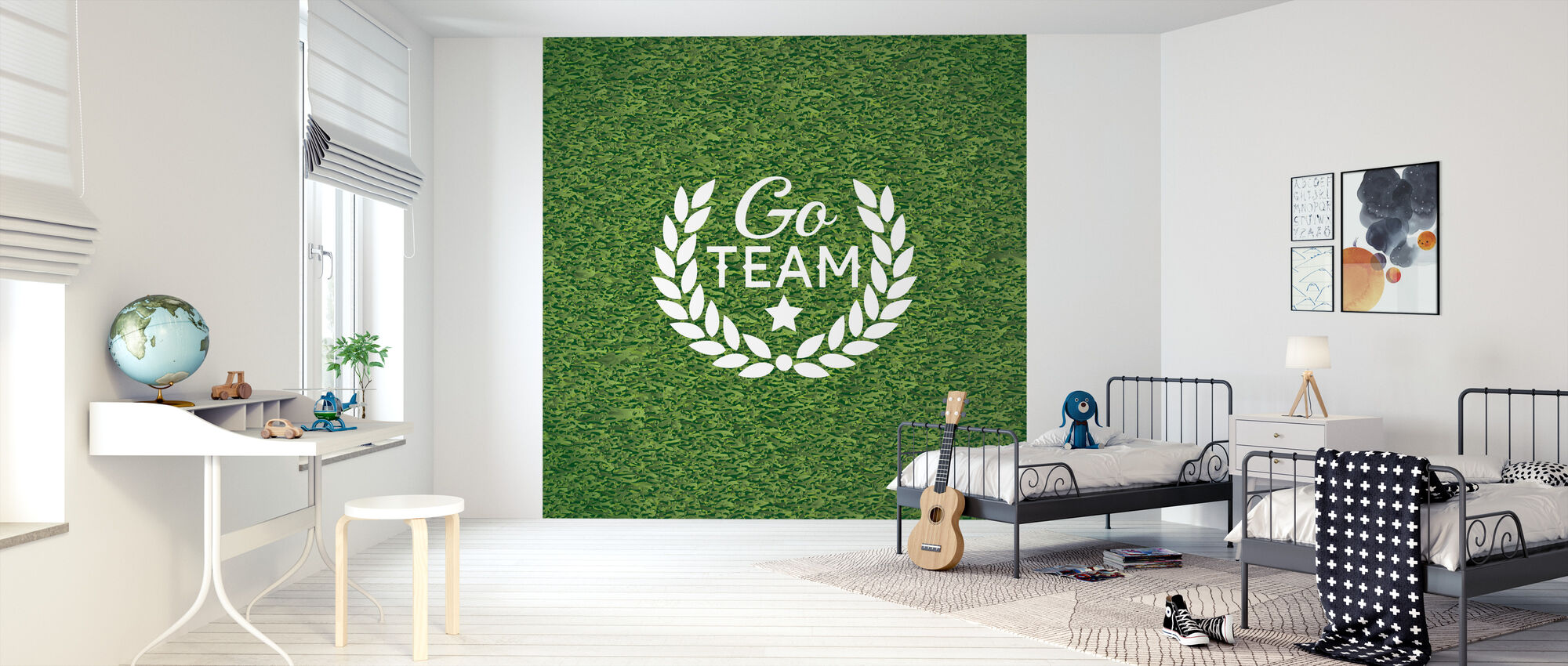 Go Team - Wallpaper - Kids Room