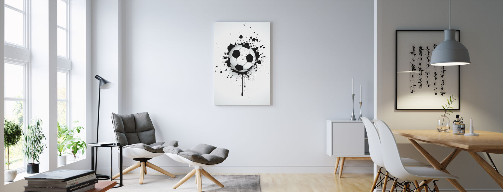 Ball Through Wall - Canvas print - Living Room