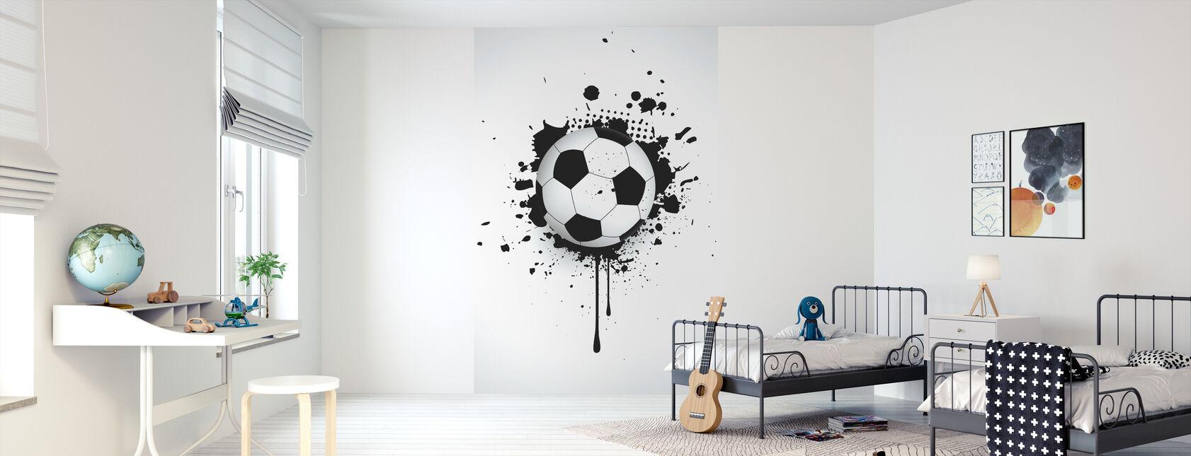 Ball Through Wall - Wallpaper - Kids Room