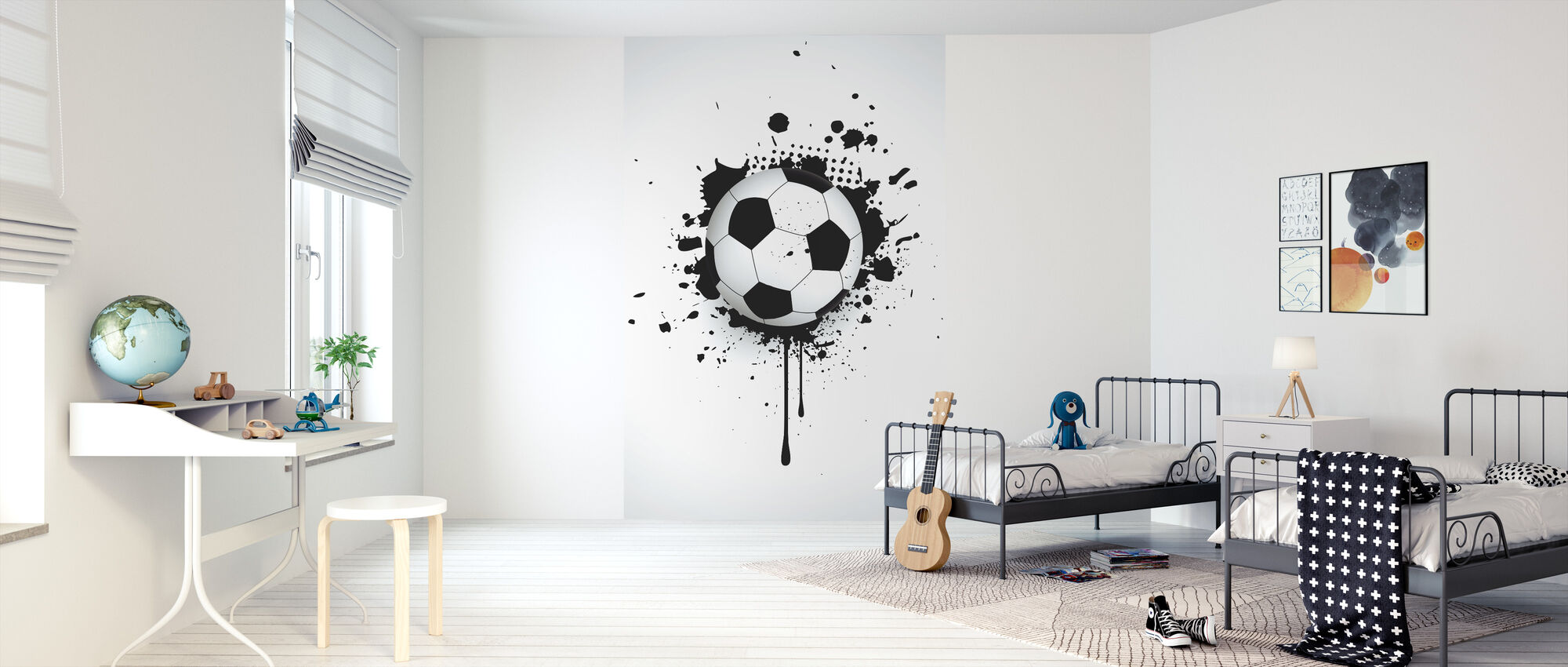 Ball Through Wall - Wallpaper - Kids Room