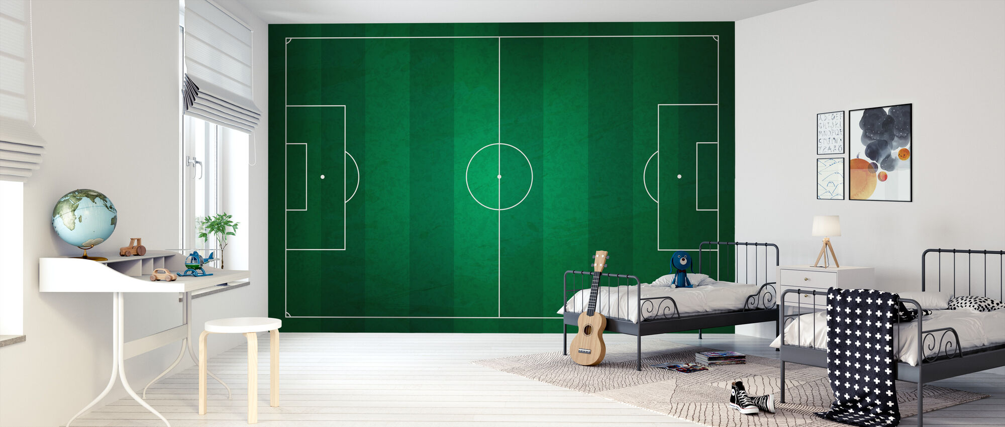 Soccer Field from Above - Wallpaper - Kids Room