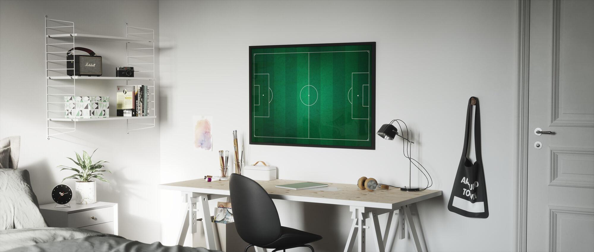 Soccer Field from Above - Framed print - Kids Room