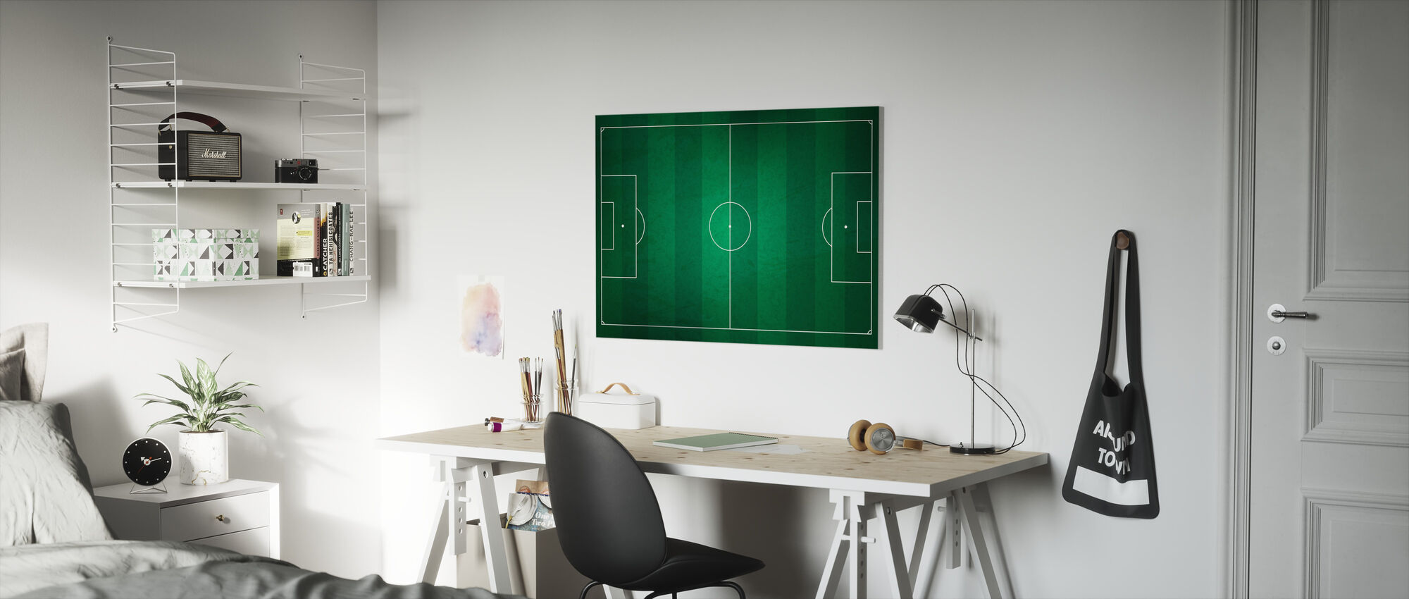 Soccer Field from Above - Canvas print - Kids Room
