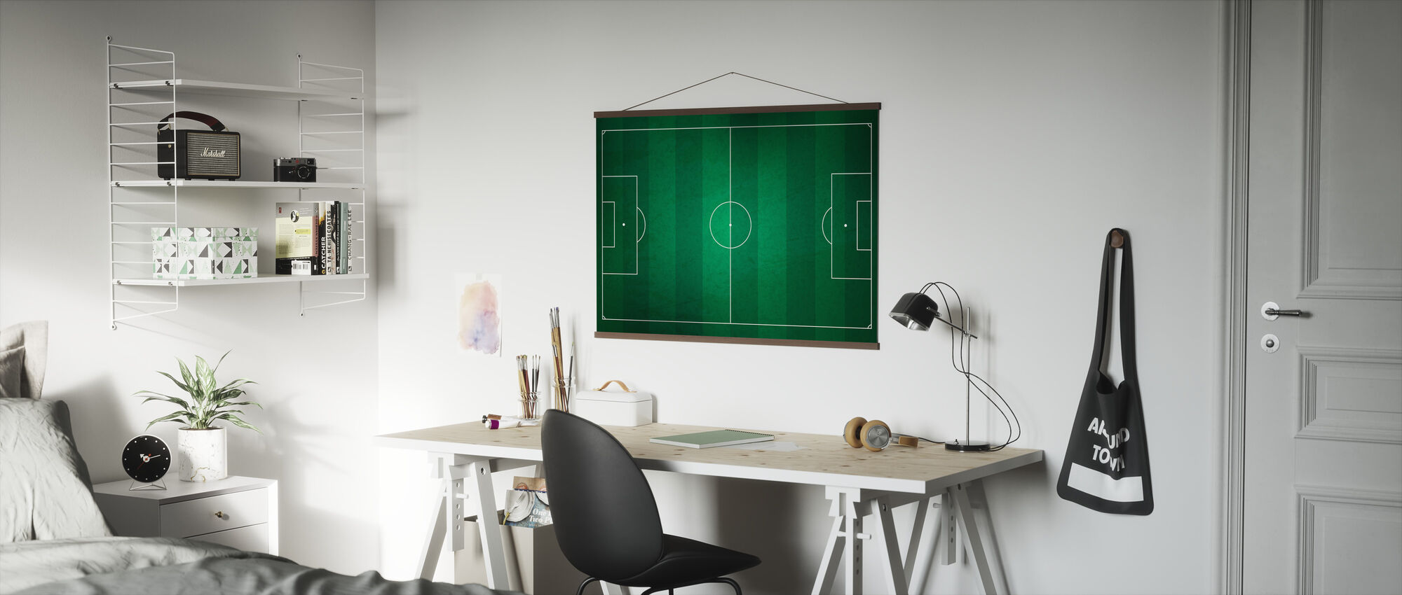 Soccer Field from Above - Poster - Office