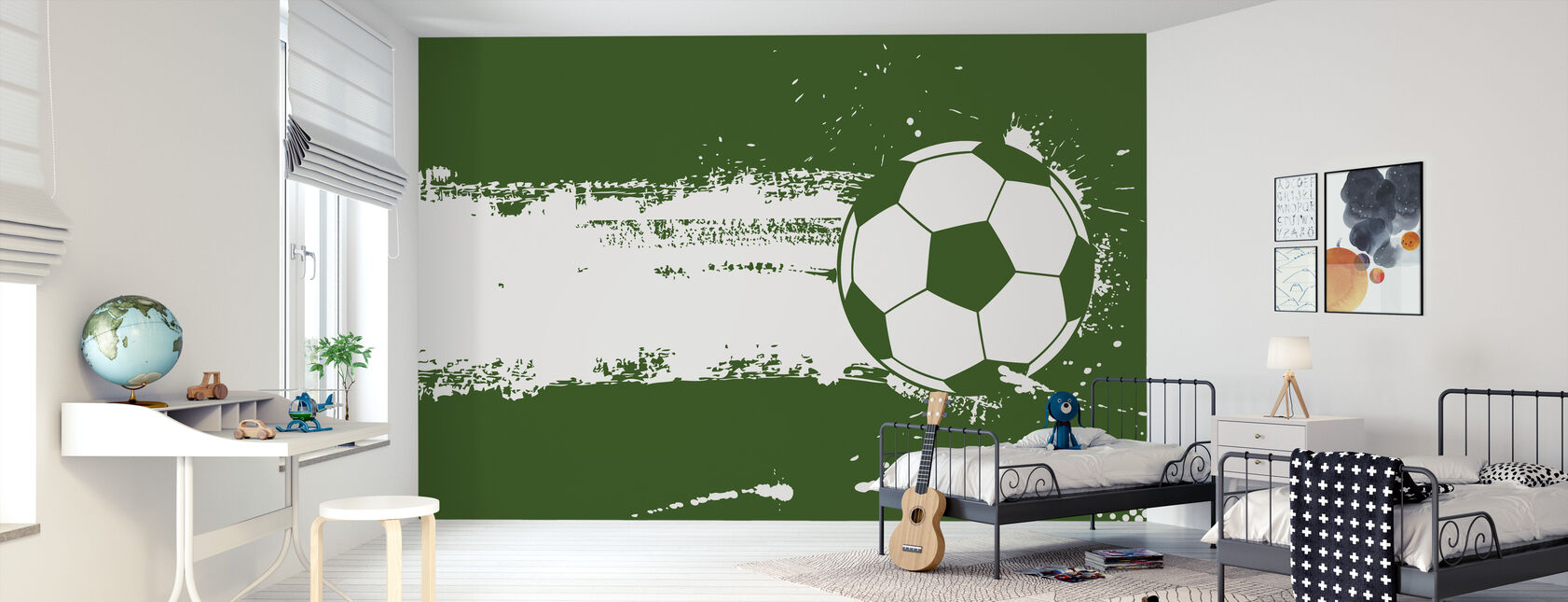Green Soccer - Wallpaper - Kids Room