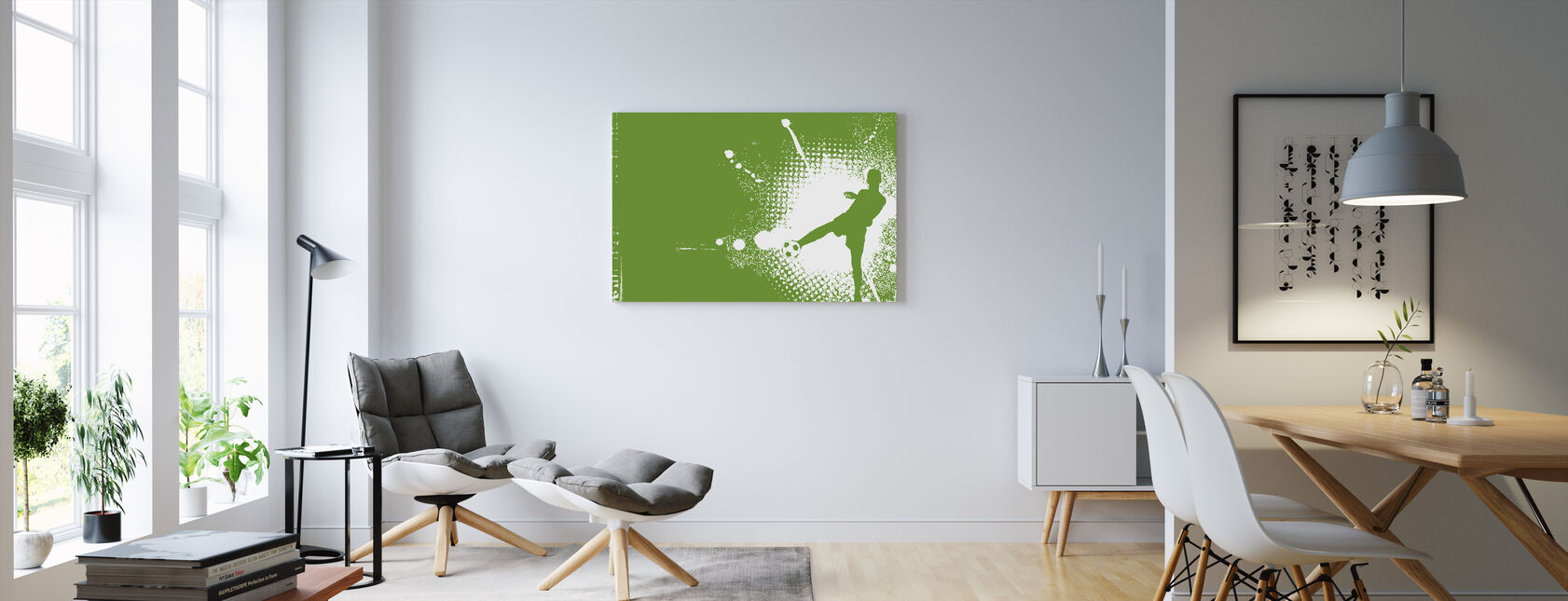Soccer Player Green - Canvas print - Living Room