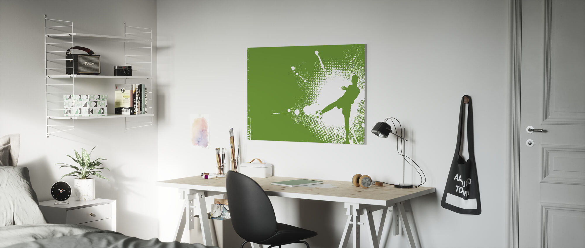 Soccer Player Green - Canvas print - Kids Room