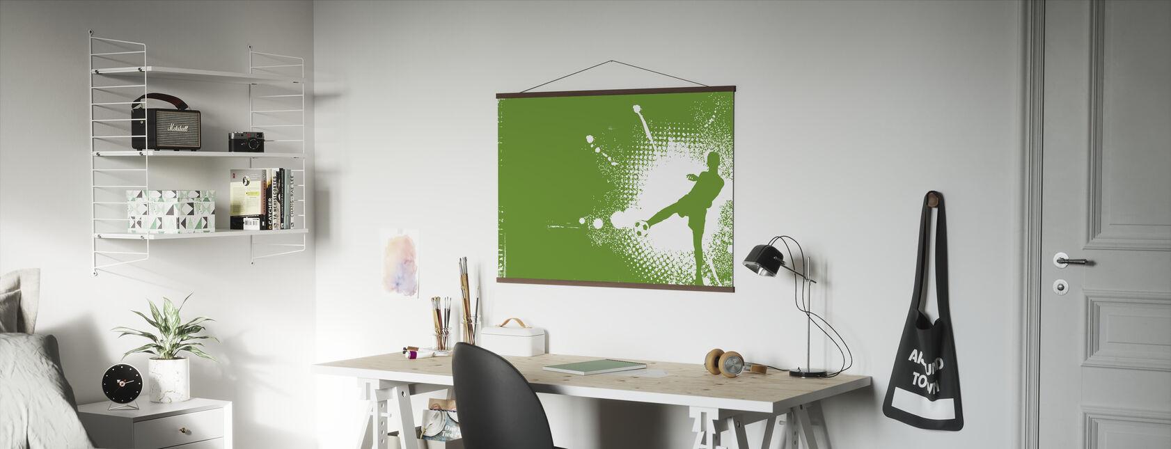 Piłkarz zielony - Plakat - Biuro