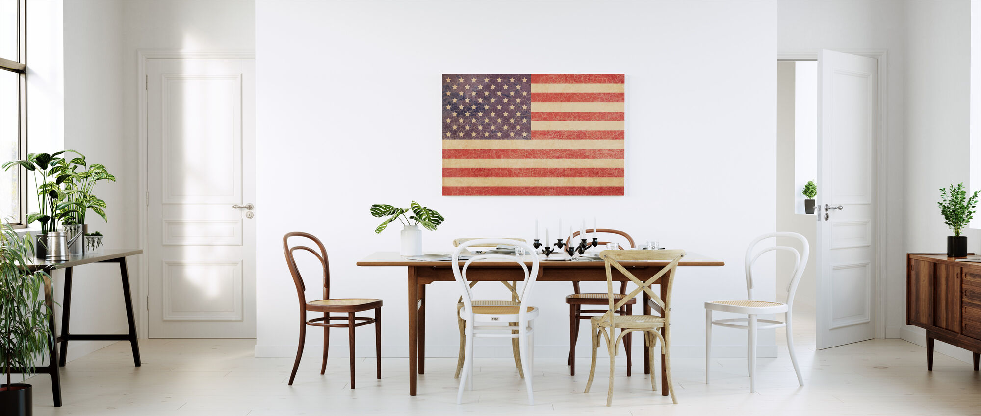 USA Vintage Map - Canvas print - Kitchen