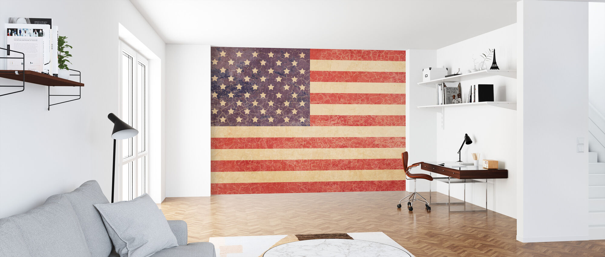 USA Vintage Map - Wallpaper - Office