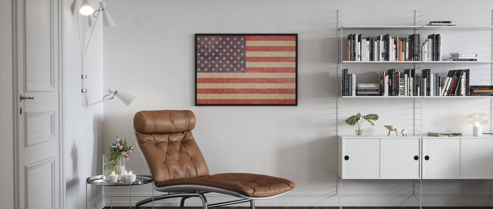 USA Vintage Map - Framed print - Living Room