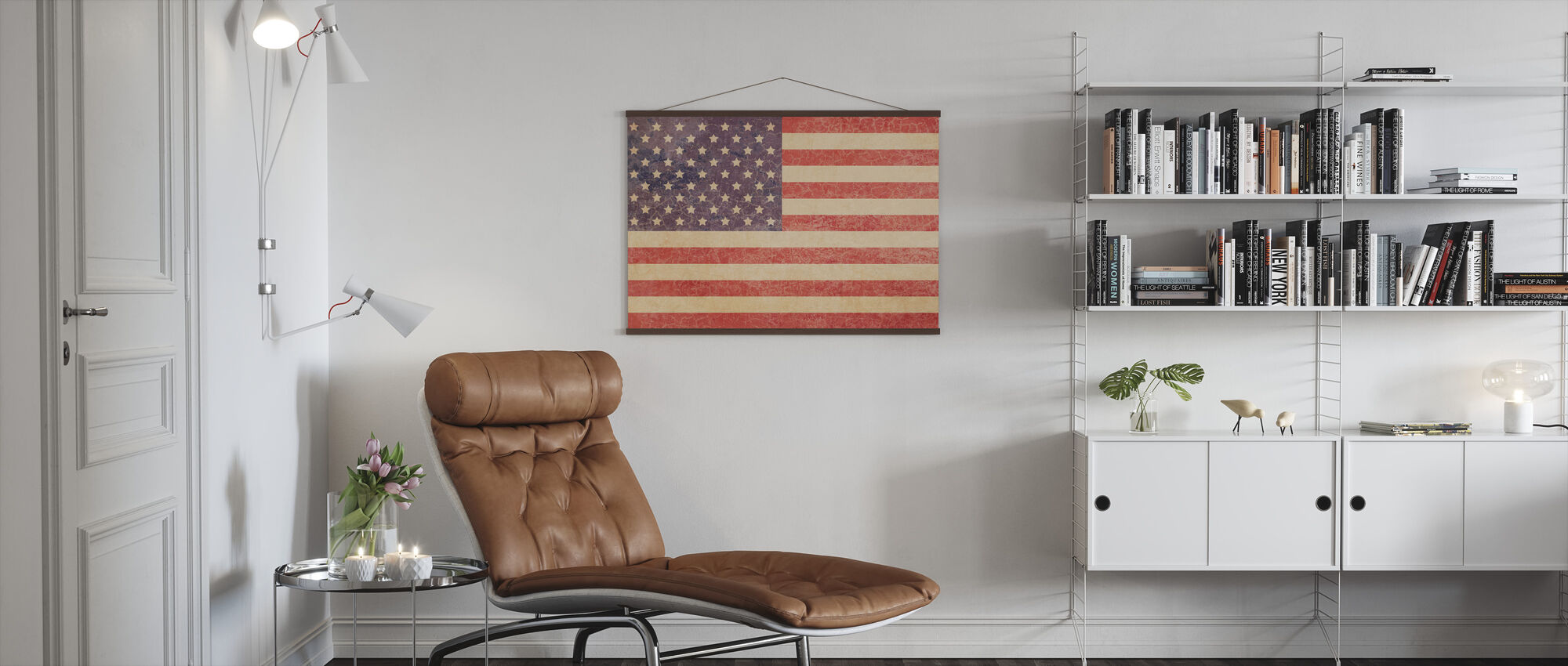 USA Vintage Map - Poster - Living Room