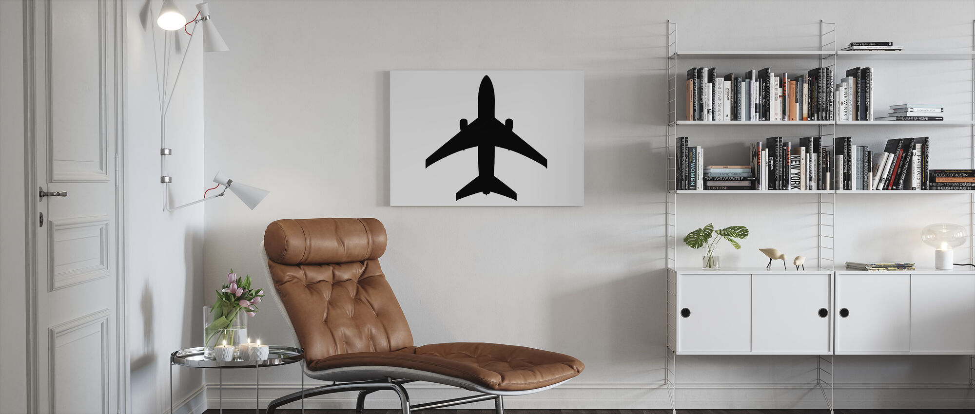 Graphic Plane - Canvas print - Living Room