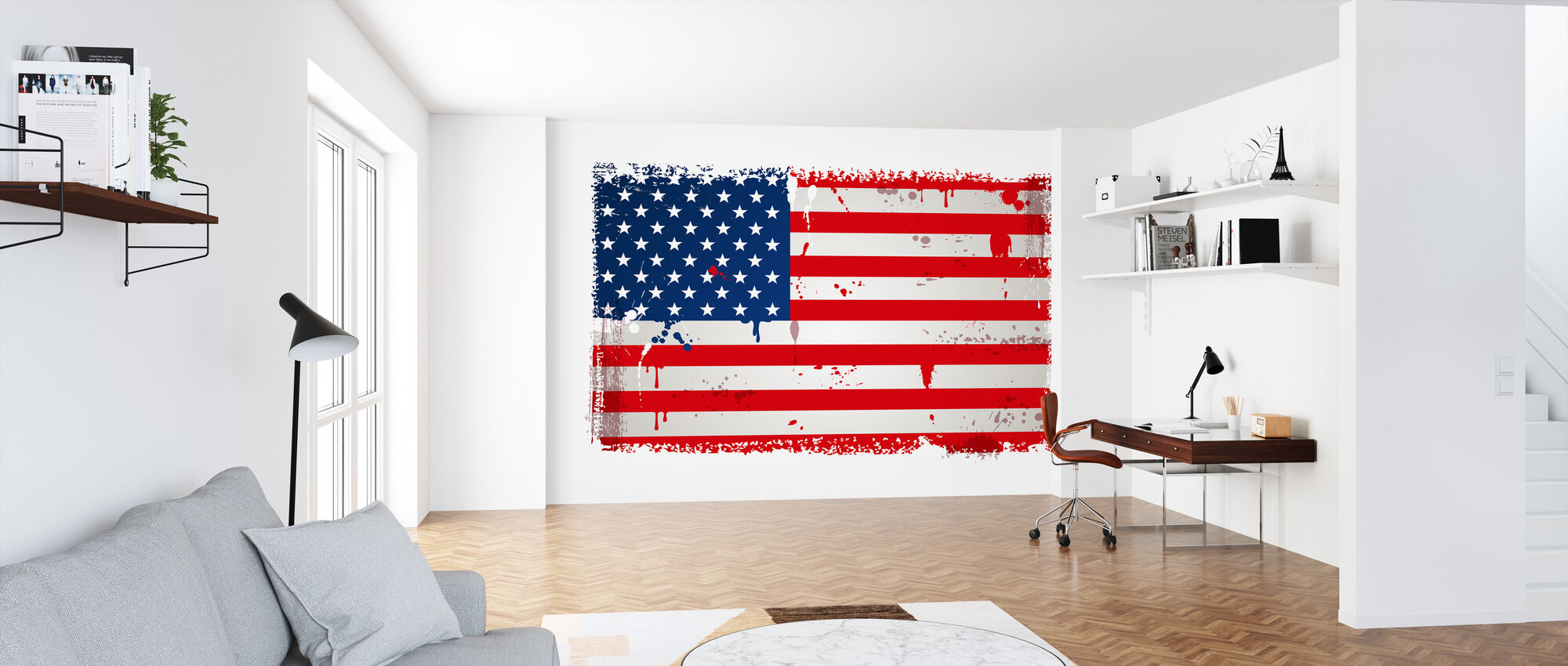 USA Flag - Tapet - Kontor
