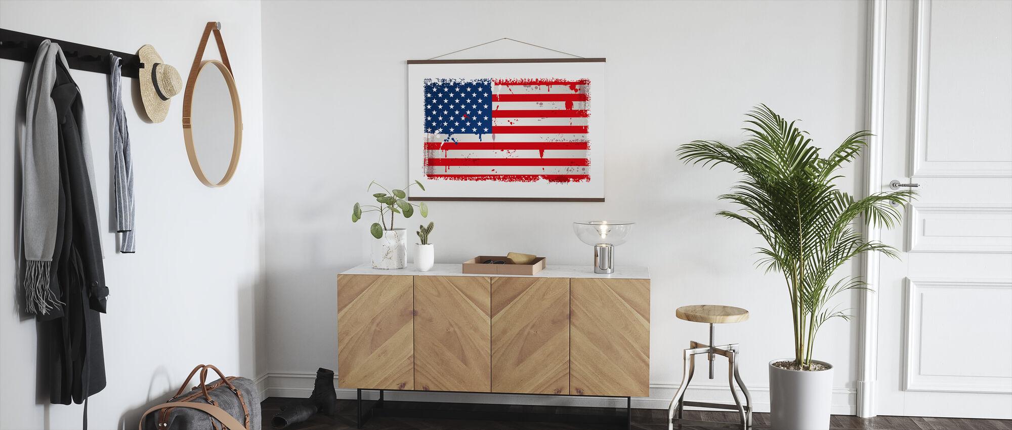 United States Flag - Poster - Hallway