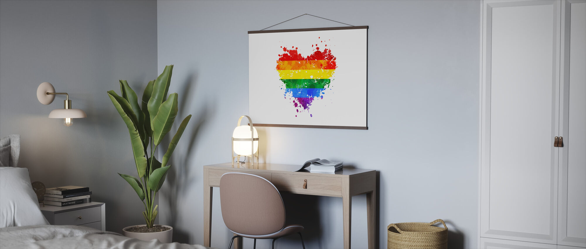 LGBT Grungy Hart - Poster - Kantoor