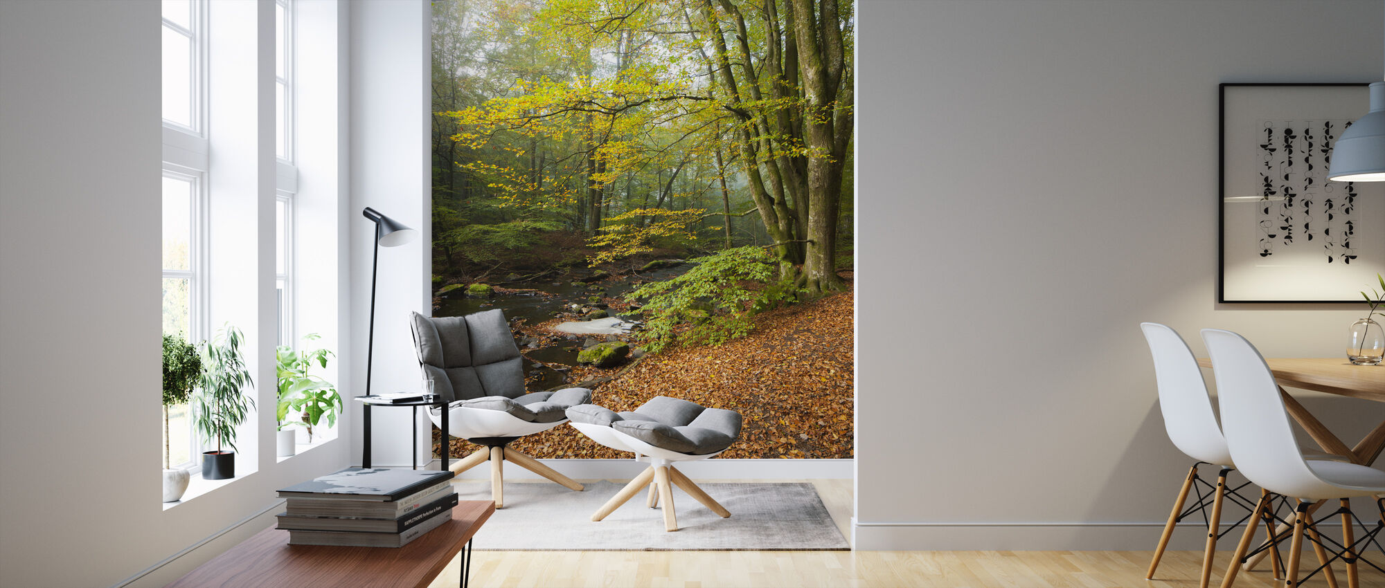 Swedish Beech Forest II - Wallpaper - Living Room
