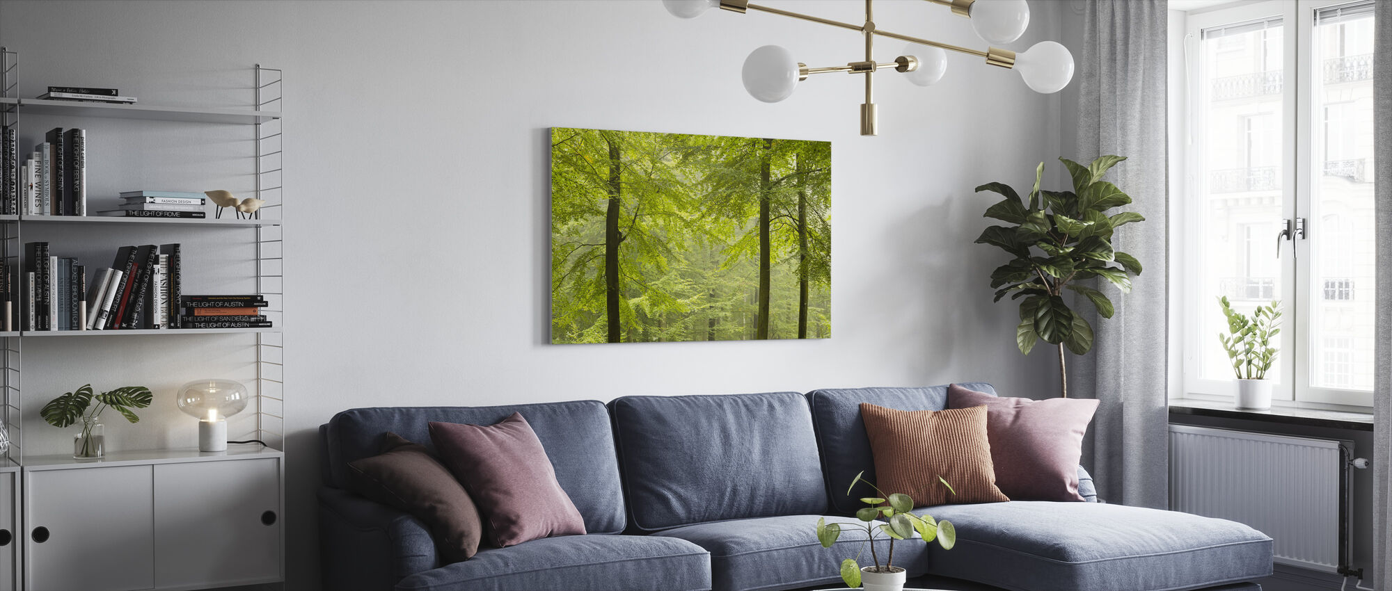 Beech Forest in Torup, Sweden I, Europe - Canvas print - Living Room