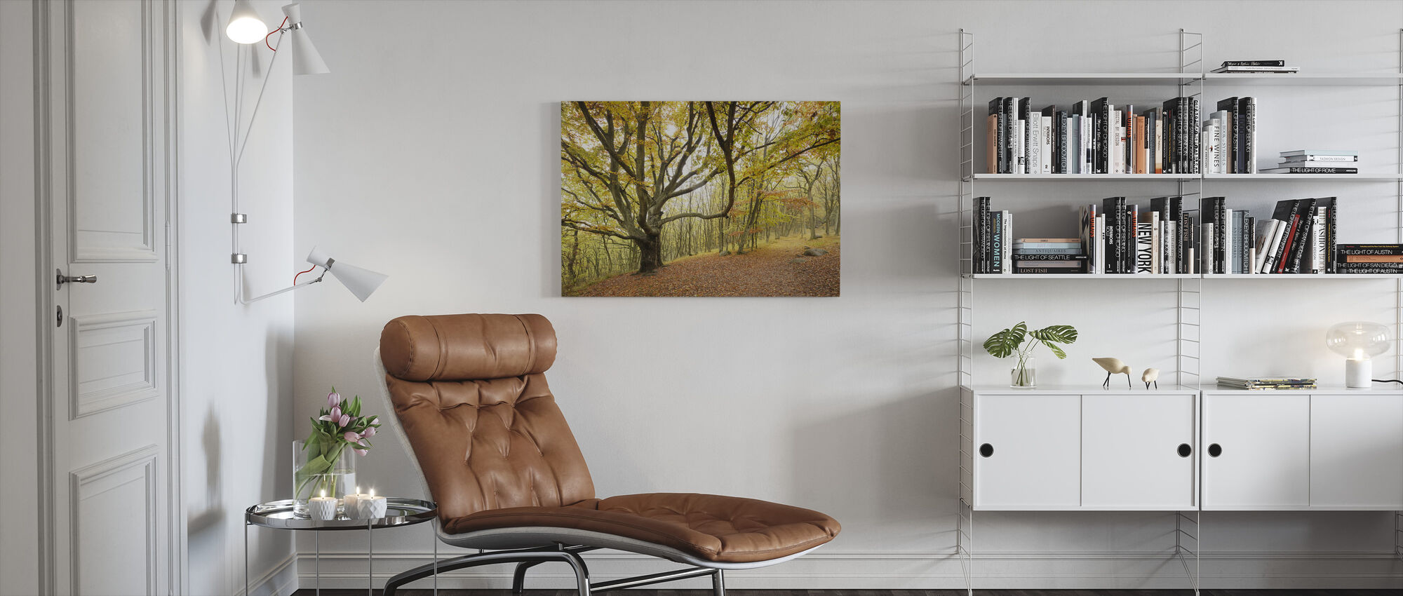 Autumn Trees in Stenshuvud, Sweden, Europe - Canvas print - Living Room