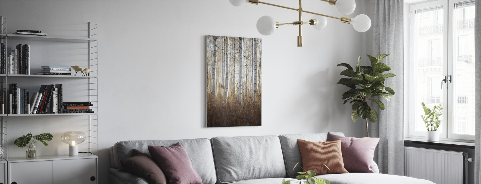 Birch Forest in Dalarna, Sweden, Europe - Canvas print - Living Room