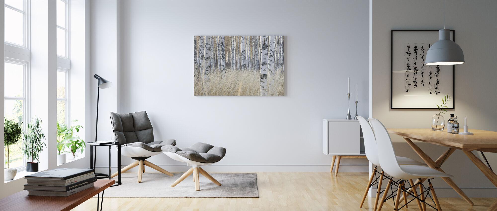 Lys bjørk skog - Lerretsbilde - Stue