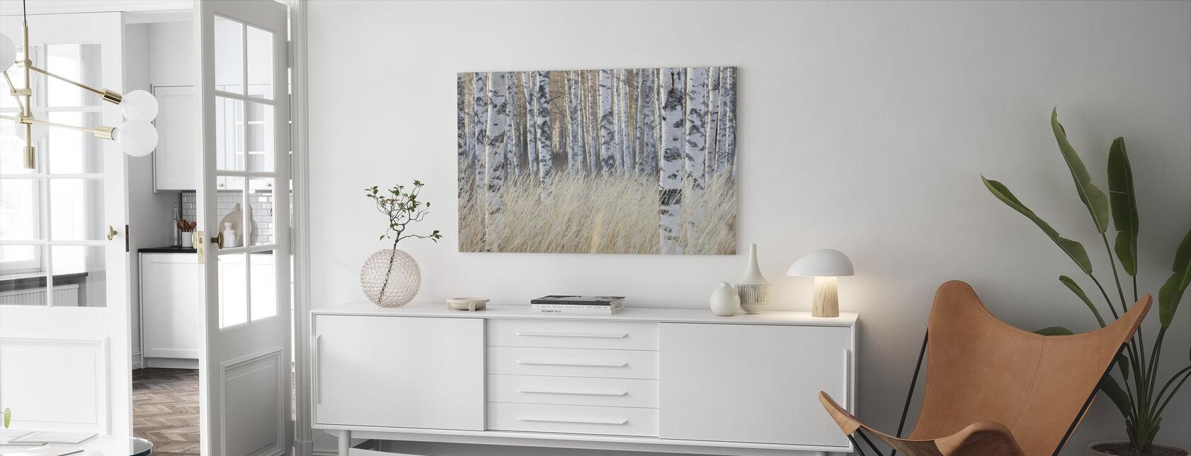 Birkenwald hell - Leinwandbild - Wohnzimmer