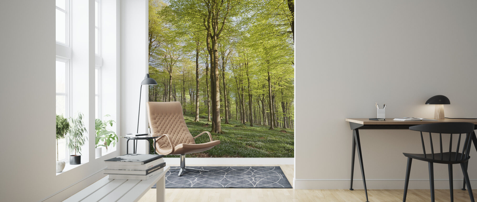 Summer Beech Wood - Wallpaper - Living Room