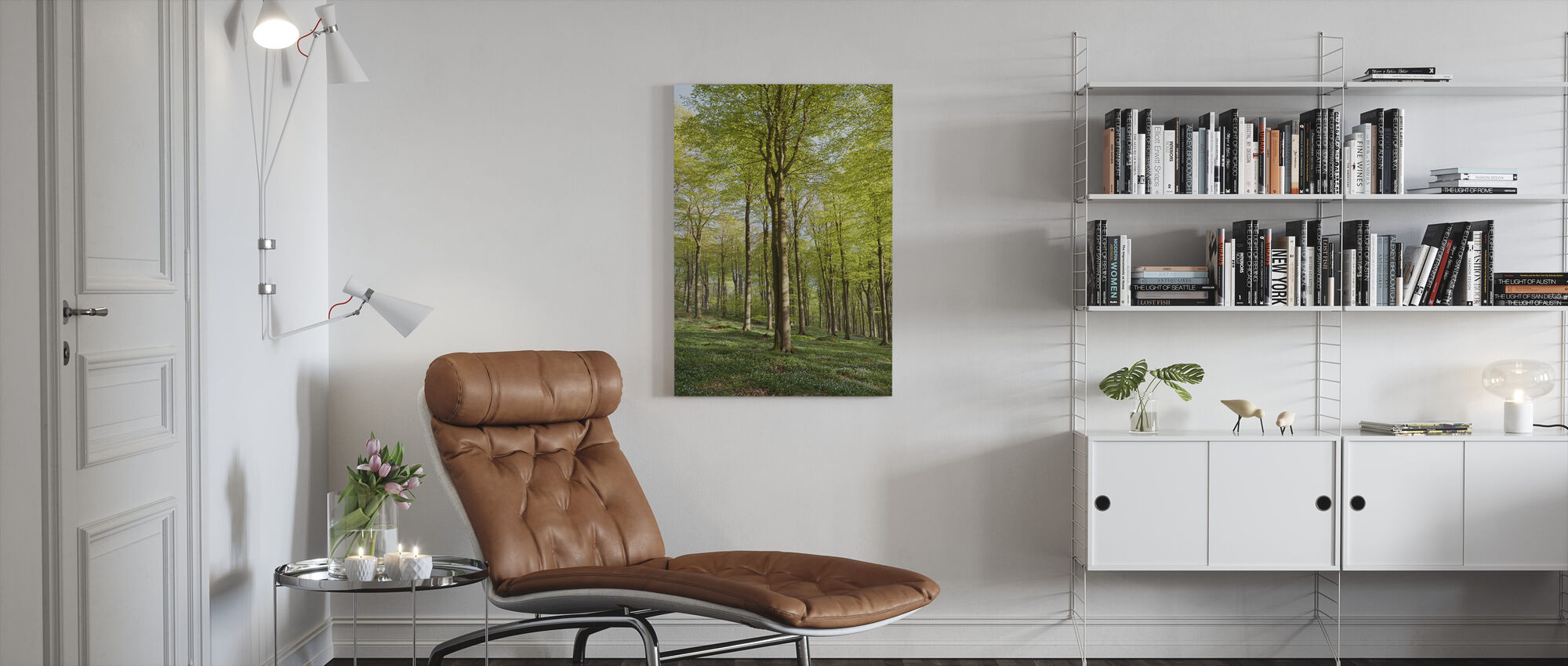 Summer Beech Wood - Canvas print - Living Room