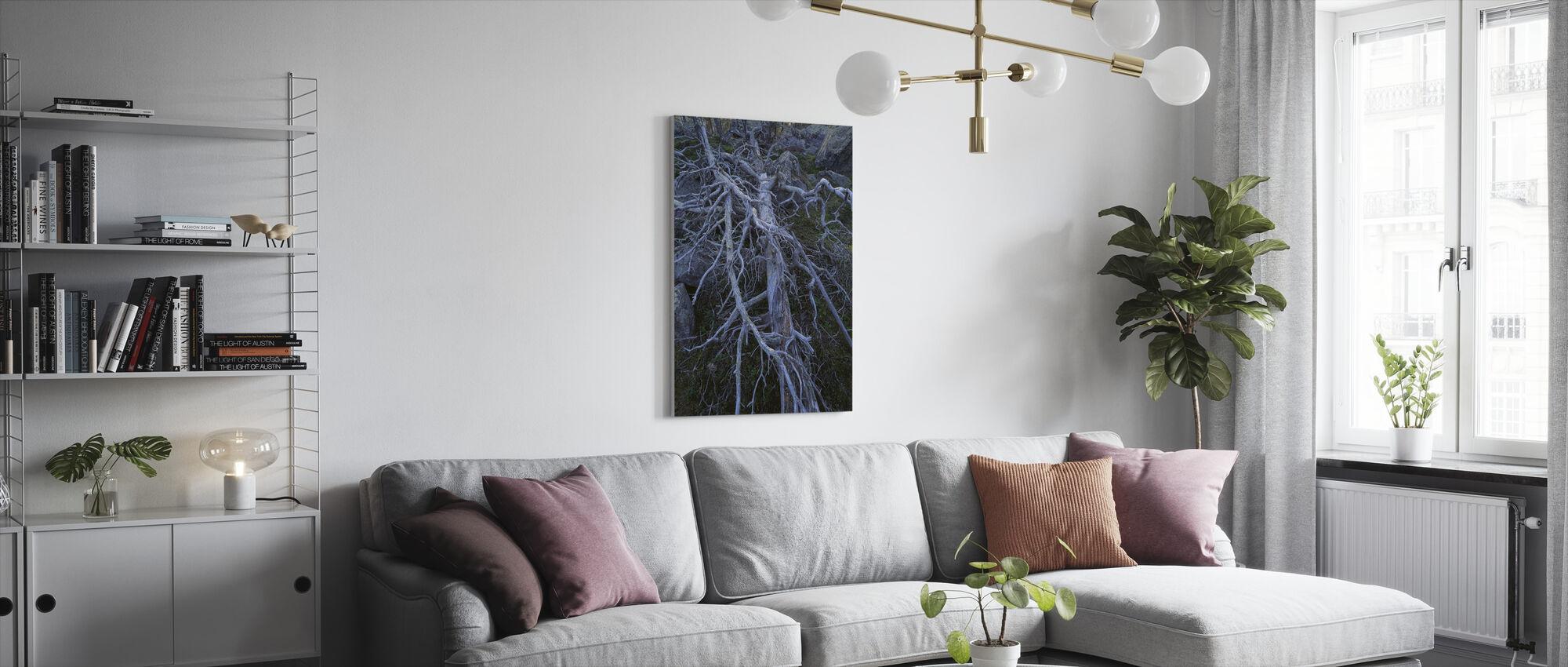 Boomstammen - Canvas print - Woonkamer