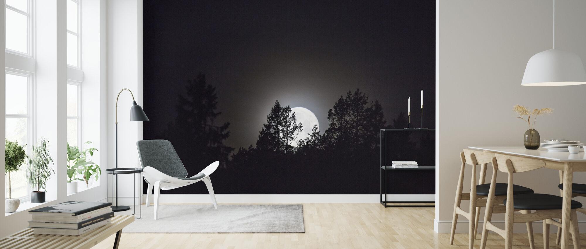 Måneskin over Medelpad, Sverige, Europa - Tapet - Stue