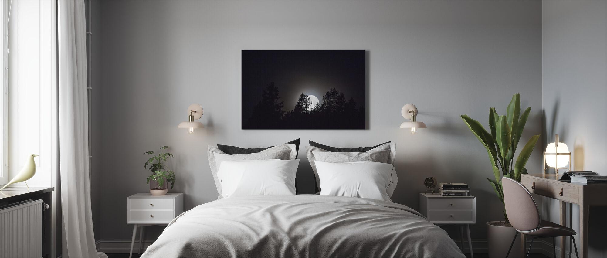 Moonlight over Medelpad, Sweden, Europe - Canvas print - Bedroom