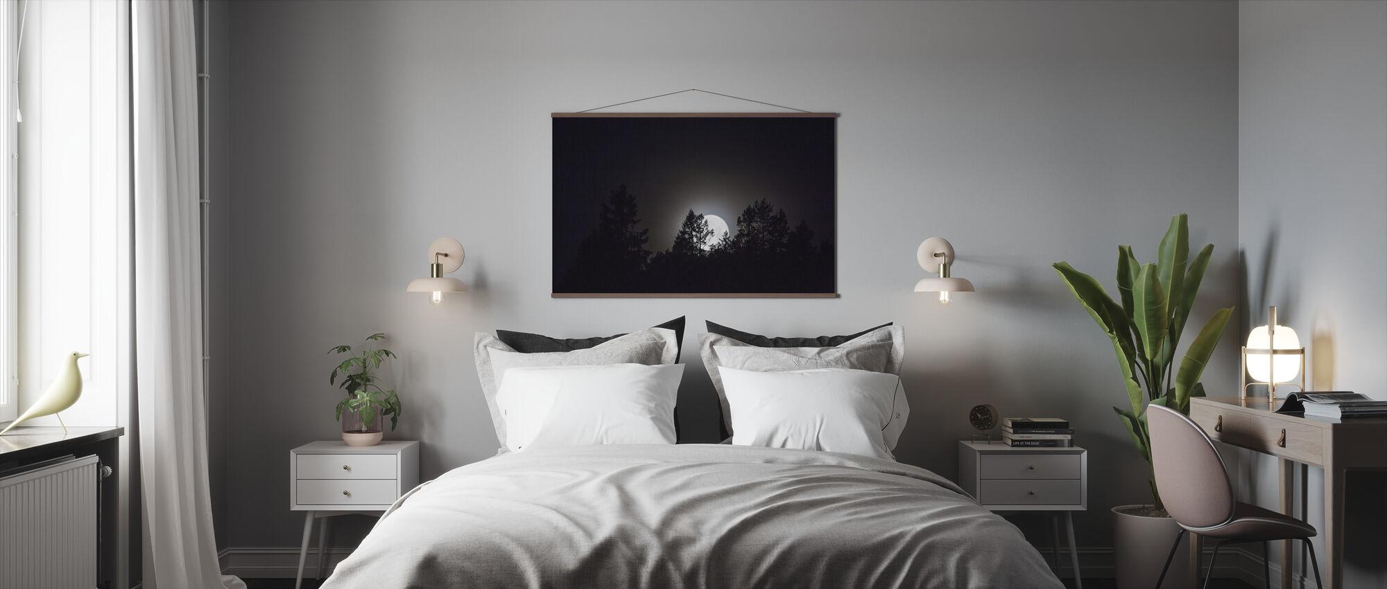 Månsken över Medelpad, Sverige, Europa - Poster - Sovrum