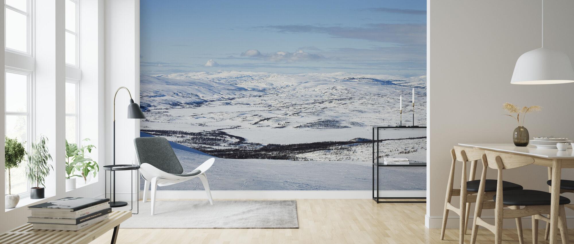 Snowy Landscape of Jämtland, Sweden - Wallpaper - Living Room