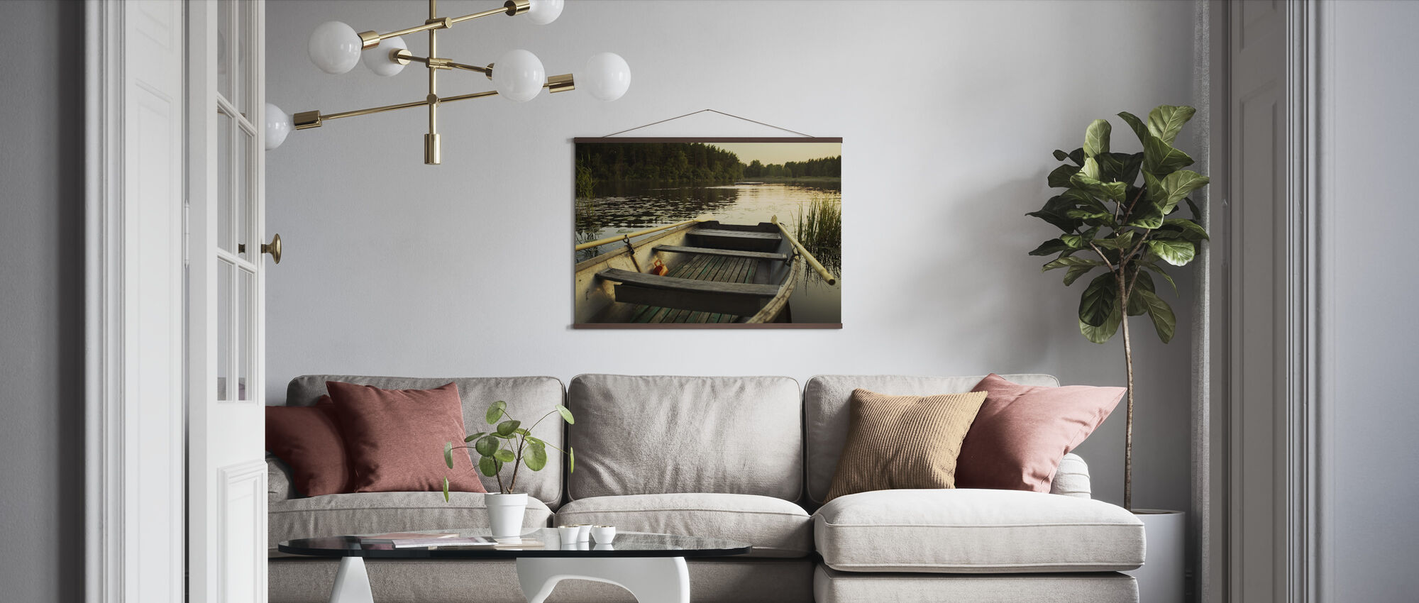 Skiff in Norrtälje, Sweden - Poster - Living Room
