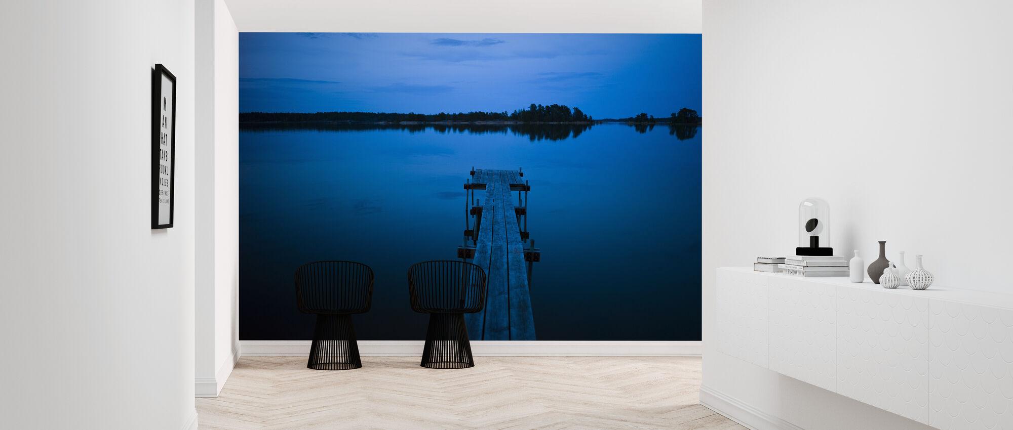 Puinen laituri iltahämärässä, Ruotsi - Tapetti - Aula