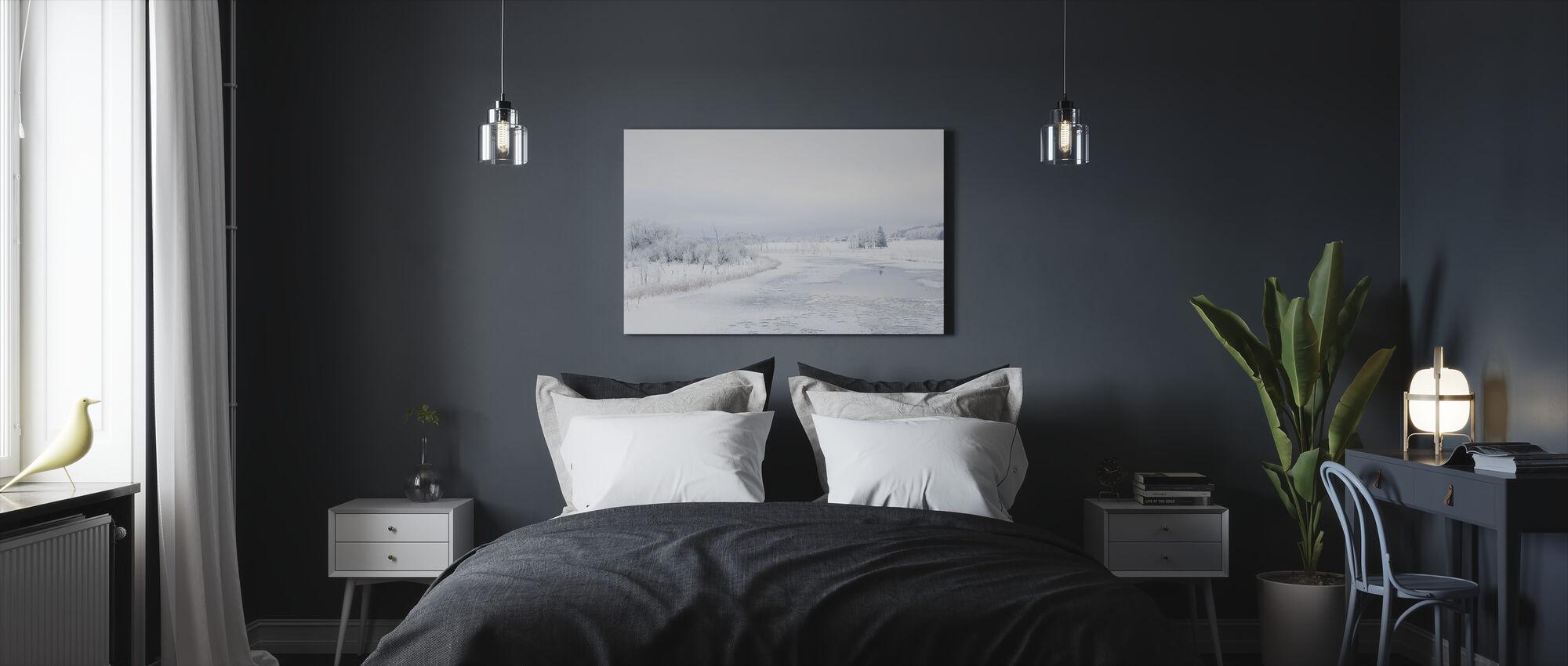 Svartån en invierno, Suecia - Lienzo - Dormitorio