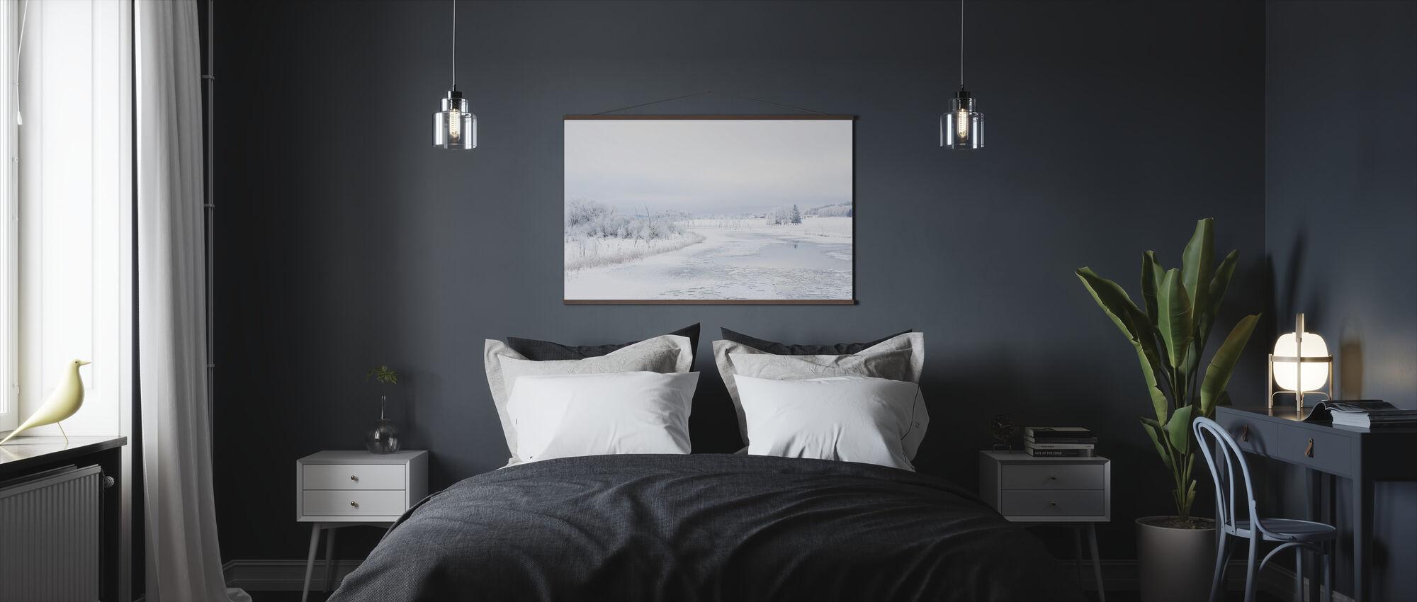 Svartån in Winter, Sweden - Poster - Bedroom