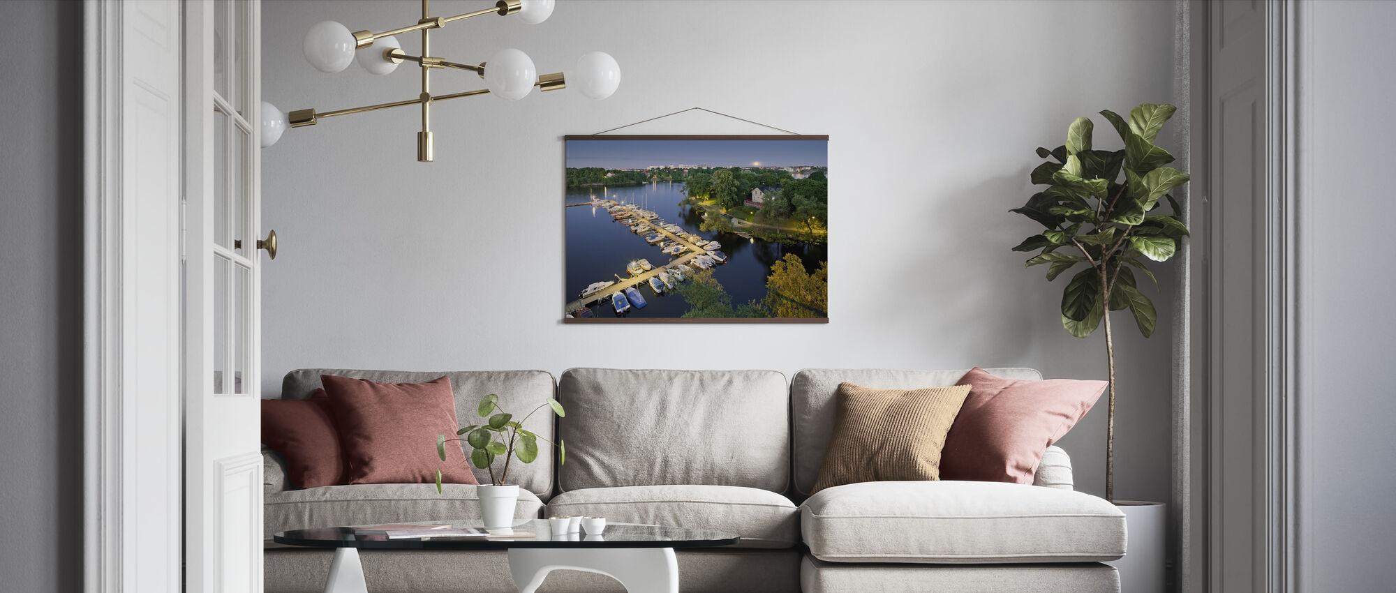 Harbour in Kungsholmen - Poster - Living Room