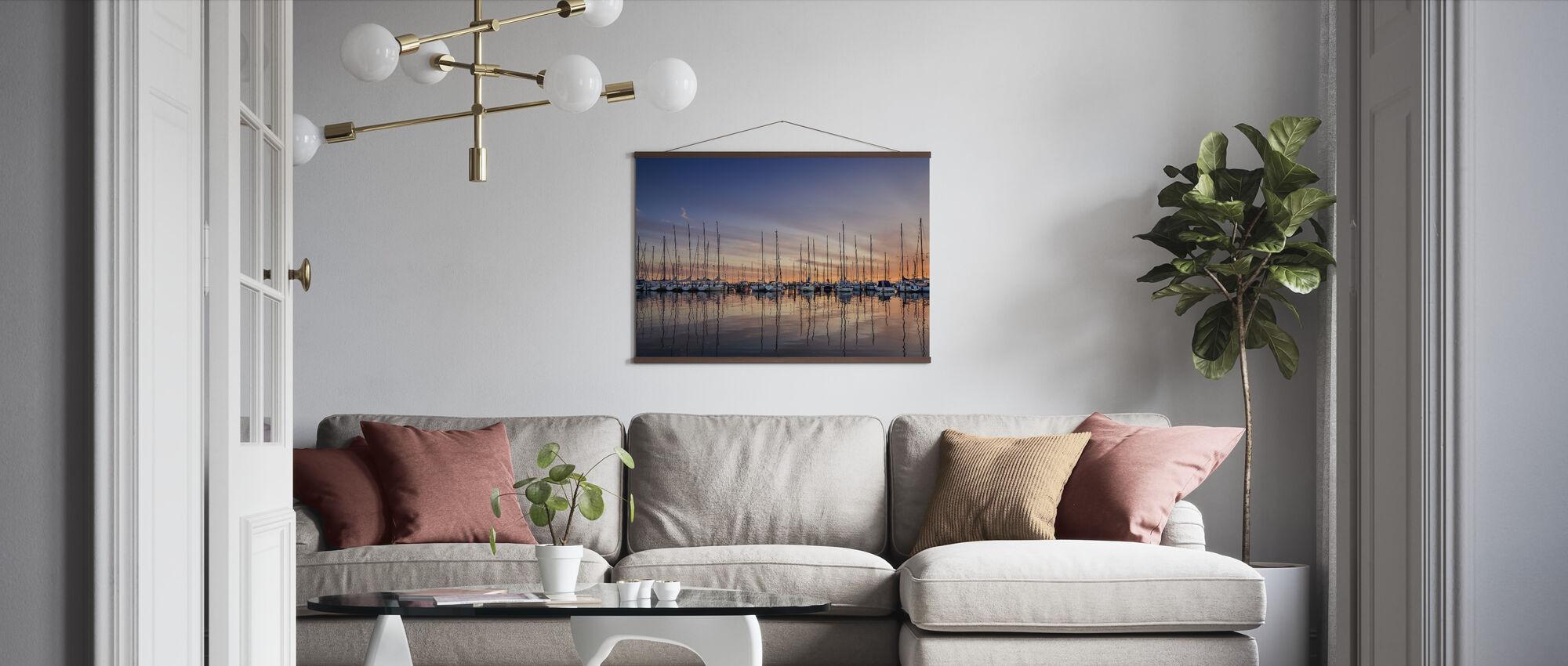 Sailboats in Sunset, Gothenburg Sweden - Poster - Living Room