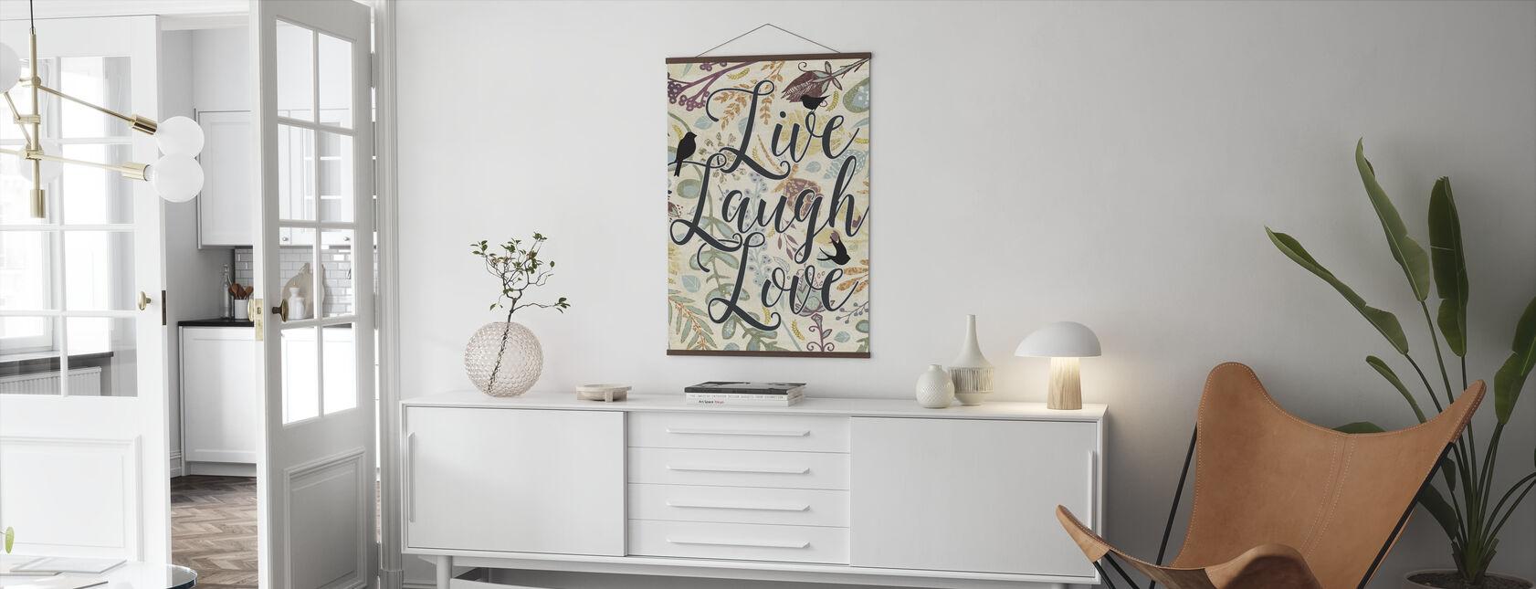 Floral Inspirational - Poster - Living Room