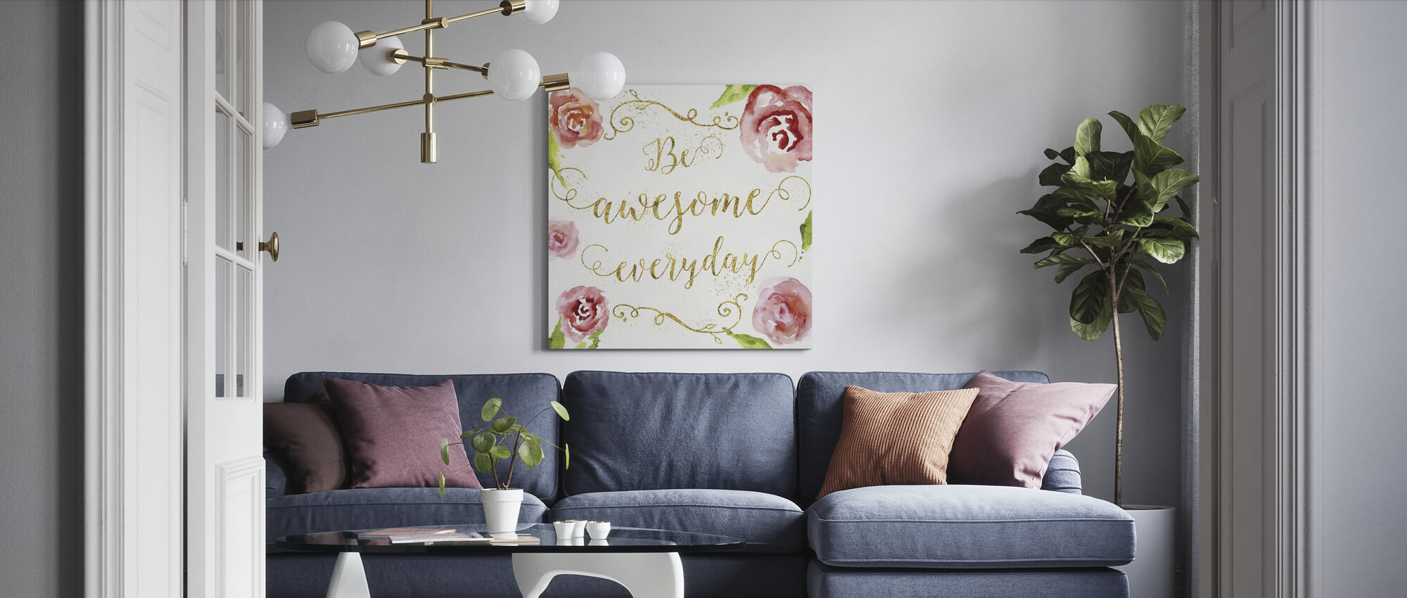 Be Awesome Everyday - Canvas print - Living Room