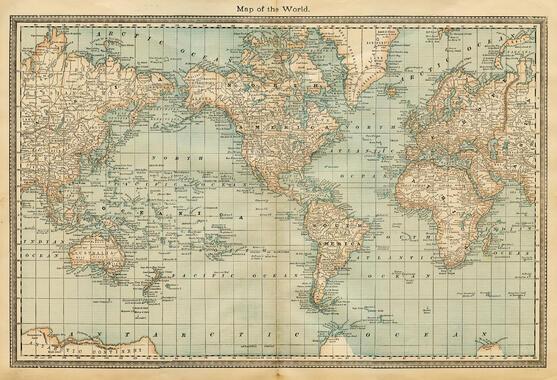 Weltkarten – Trendige Fototapeten – Photowall