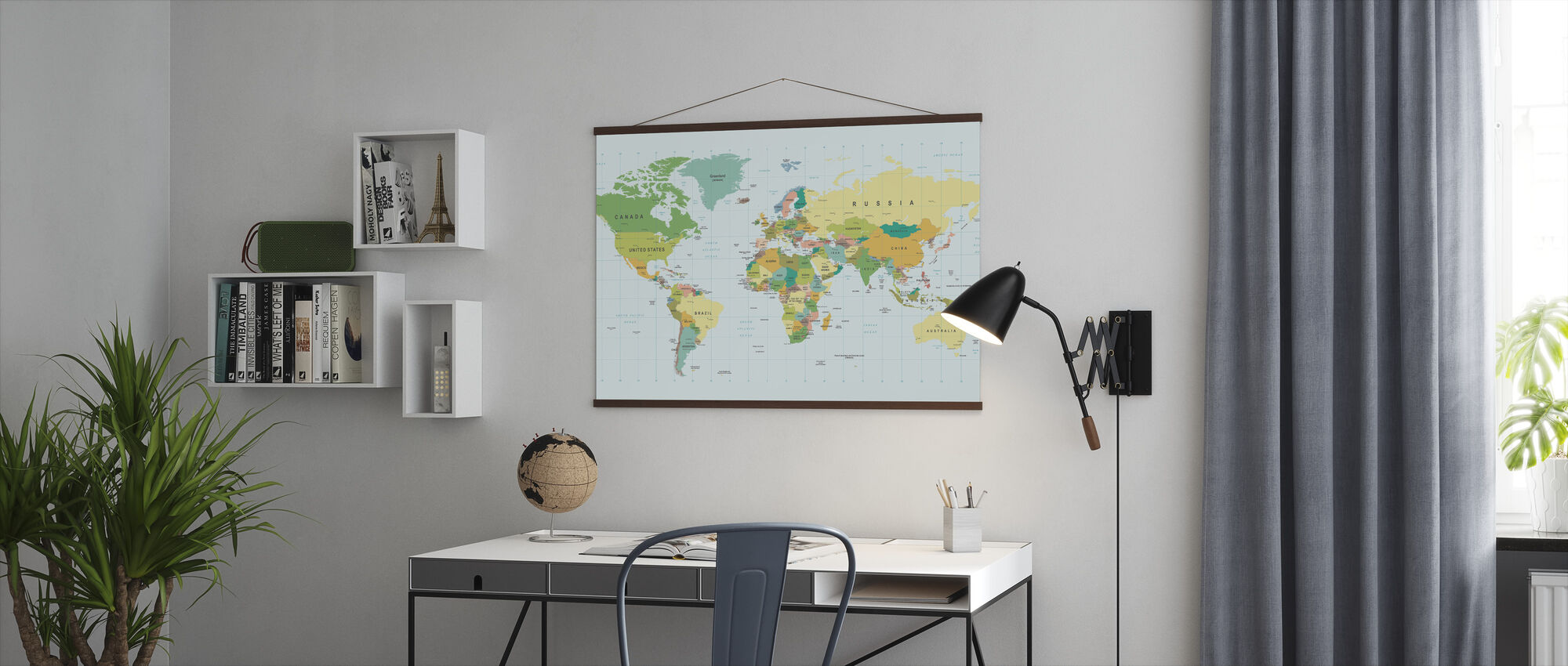 Political World Map - Poster - Office